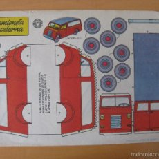 Coleccionismo Recortables: RECORTABLE CAMIONETA MODERNA. AÑO 1959. BRUGUERA. Lote 57905808