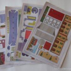 Coleccionismo Recortables: ESTACION DE TREN, LOCOMOTORA Y DOS VAGONES - EDITORIAL ROMA. Lote 58137133