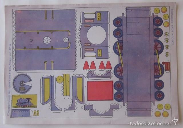Coleccionismo Recortables: ESTACION DE TREN, LOCOMOTORA Y DOS VAGONES - EDITORIAL ROMA - Foto 3 - 58137133
