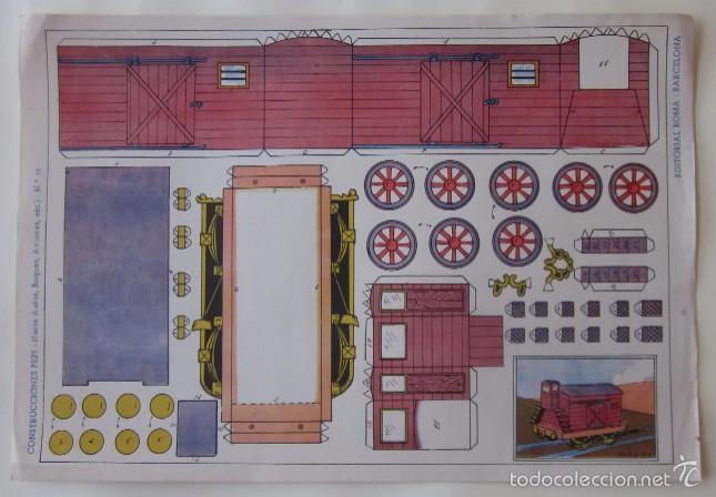 Coleccionismo Recortables: ESTACION DE TREN, LOCOMOTORA Y DOS VAGONES - EDITORIAL ROMA - Foto 5 - 58137133