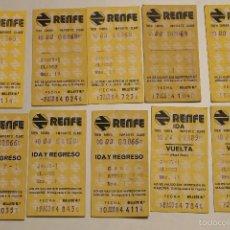 Coleccionismo Recortables: 10 BILLETES DE RENFE AÑO 84. Lote 59069635