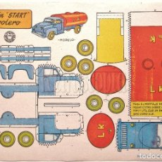 Colecionismo Recortáveis: LAMINA RECORTABLES TRANSPORTES BRUGUERA CAMION START PETROLERO 1959 (29.5 X 21 CM.). Lote 61739220