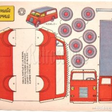 Coleccionismo Recortables: LAMINA RECORTABLES TRANSPORTES BRUGUERA CAMIONETA MODERNA 1959 (29.5 X 21 CM.). Lote 61739556
