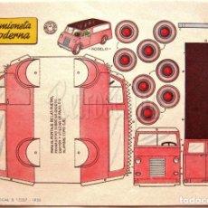 Coleccionismo Recortables: LAMINA RECORTABLES TRANSPORTES BRUGUERA CAMIONETA MODERNA 1959 (23.5 X 16.5 CM.). Lote 61739748