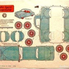 Coleccionismo Recortables: LAMINA RECORTABLES TRANSPORTES BRUGUERA COCHE LIGERO DESCAPOTABLE 1959 (23.5 X 16.5 CM.). Lote 61739816