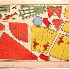 Coleccionismo Recortables: LAMINA RECORTABLES TRANSPORTES BRUGUERA AVIONETA A REACCION 1959 (23.5 X 16.5 CM.). Lote 61739940