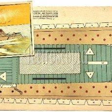 Coleccionismo Recortables: LAMINAS RECORTABLES ACORAZADO ALBATROS EDITORIAL TBO AÑOS 50 RECORTABLE. Lote 62691696