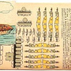 Coleccionismo Recortables: LAMINAS RECORTABLES BARCO PORTAAVIONES EDITORIAL TBO AÑOS 50 RECORTABLE. Lote 62692452