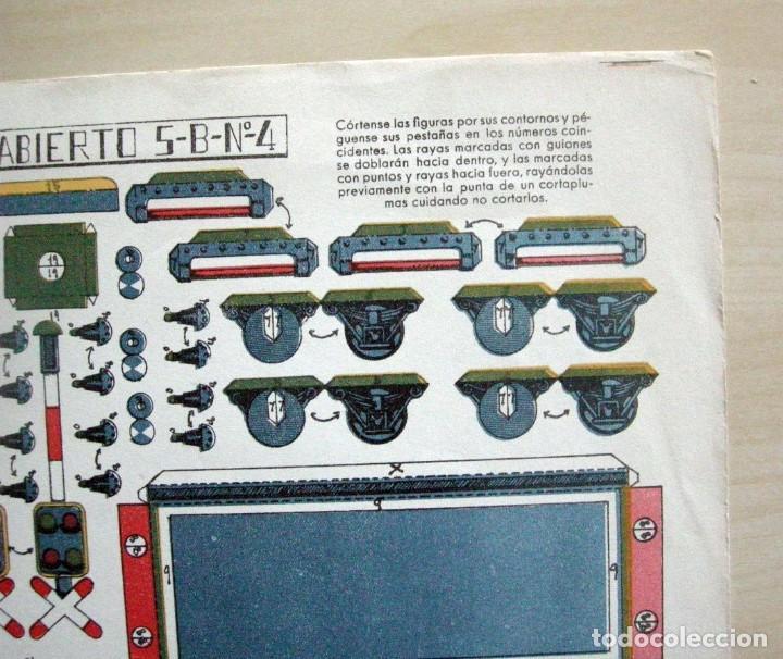 Coleccionismo Recortables: RECORTABLE - VAGONES CISTERNA Y ABIERTO - GRÁFICAS REUNIDAS - 5 B Nº4 - Foto 5 - 62738376