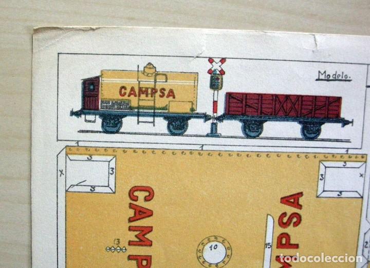 Coleccionismo Recortables: RECORTABLE - VAGONES CISTERNA Y ABIERTO - GRÁFICAS REUNIDAS - 5 B Nº4 - Foto 6 - 62738376