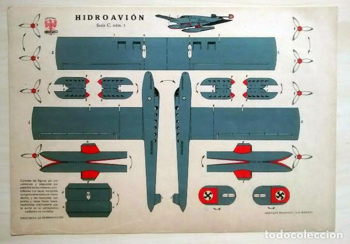 RECORTABLE DE HIDROAVIÓN - GRÁFICAS REUNIDAS - SERIE C Nº 1 (Coleccionismo - Recortables - Transportes)