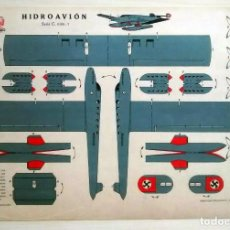 Coleccionismo Recortables: RECORTABLE DE HIDROAVIÓN - GRÁFICAS REUNIDAS - SERIE C Nº 1. Lote 62738896