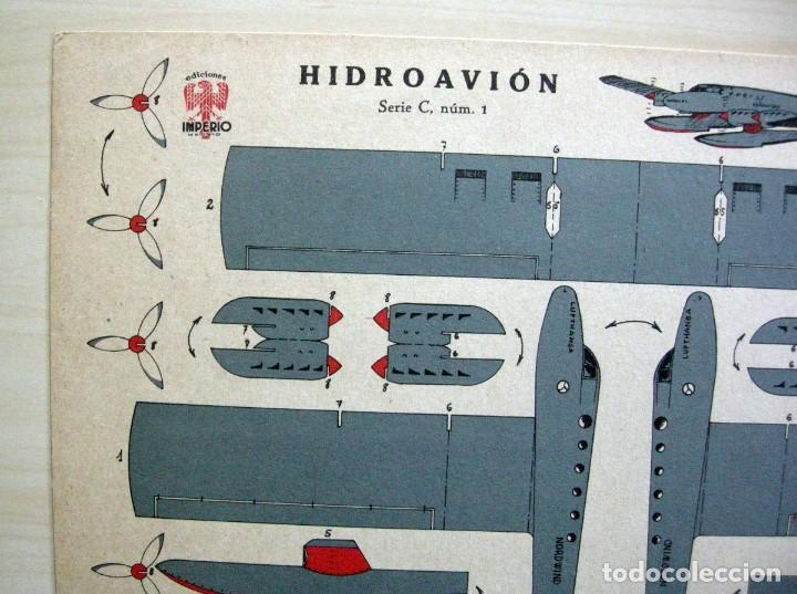 Coleccionismo Recortables: RECORTABLE de HIDROAVIÓN - GRÁFICAS REUNIDAS - Serie C nº 1 - Foto 2 - 62738896