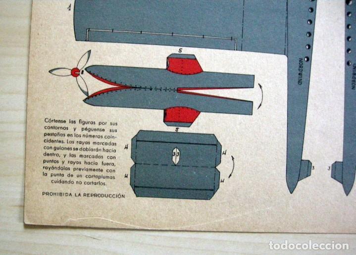 Coleccionismo Recortables: RECORTABLE de HIDROAVIÓN - GRÁFICAS REUNIDAS - Serie C nº 1 - Foto 4 - 62738896