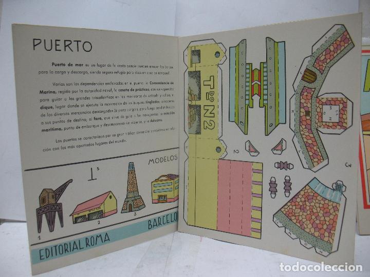 Coleccionismo Recortables: EL CONSTRUCTOR Ref: 1,2,3,4 y 5 - Lote de 7 recortables urbanos, ferroviarios, aeropuerto, puerto... - Foto 3 - 68226057
