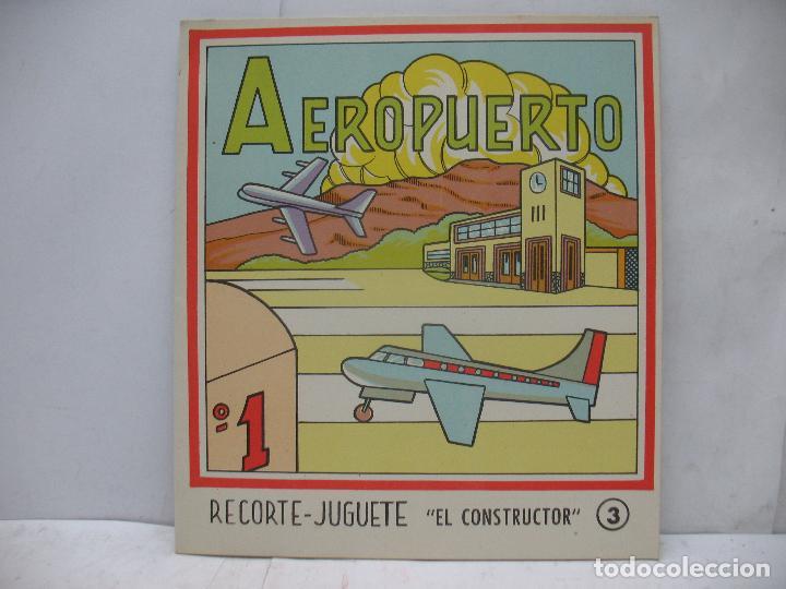Coleccionismo Recortables: EL CONSTRUCTOR Ref: 1,2,3,4 y 5 - Lote de 7 recortables urbanos, ferroviarios, aeropuerto, puerto... - Foto 4 - 68226057