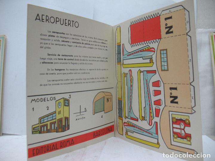 Coleccionismo Recortables: EL CONSTRUCTOR Ref: 1,2,3,4 y 5 - Lote de 7 recortables urbanos, ferroviarios, aeropuerto, puerto... - Foto 5 - 68226057