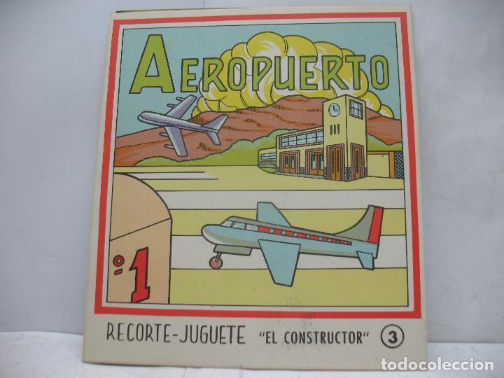 Coleccionismo Recortables: EL CONSTRUCTOR Ref: 1,2,3,4 y 5 - Lote de 7 recortables urbanos, ferroviarios, aeropuerto, puerto... - Foto 6 - 68226057