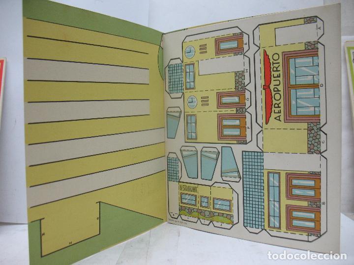 Coleccionismo Recortables: EL CONSTRUCTOR Ref: 1,2,3,4 y 5 - Lote de 7 recortables urbanos, ferroviarios, aeropuerto, puerto... - Foto 7 - 68226057
