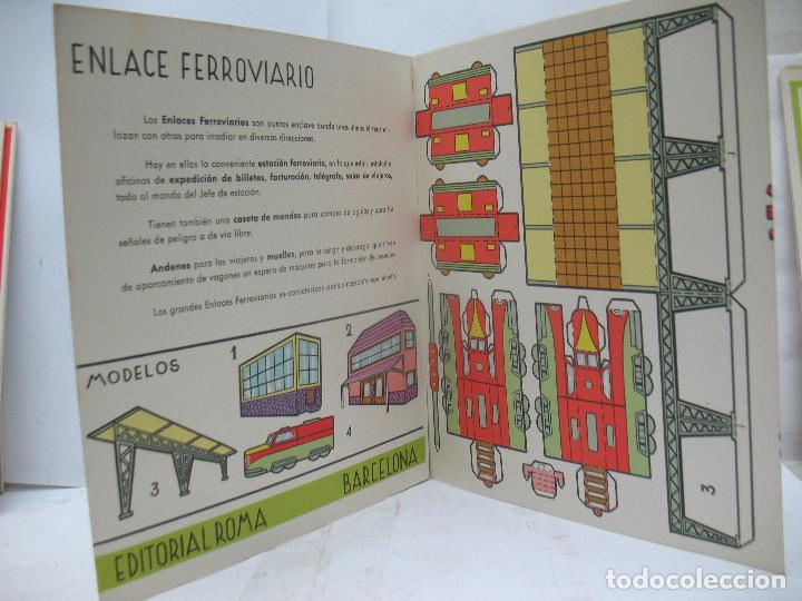 Coleccionismo Recortables: EL CONSTRUCTOR Ref: 1,2,3,4 y 5 - Lote de 7 recortables urbanos, ferroviarios, aeropuerto, puerto... - Foto 9 - 68226057