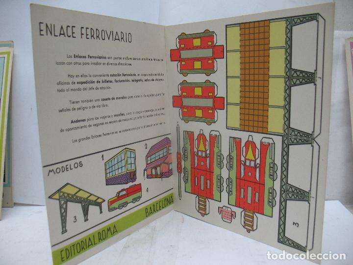 Coleccionismo Recortables: EL CONSTRUCTOR Ref: 1,2,3,4 y 5 - Lote de 7 recortables urbanos, ferroviarios, aeropuerto, puerto... - Foto 11 - 68226057