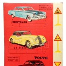 Coleccionismo Recortables: LAMINA RECORTABLE AUTOMÓVILES Nº 3 *CHRYSLER AC SPORT VOLVO* RECORTES ULTRA EDITORIAL ROMA 1961. Lote 69522137