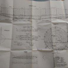 Coleccionismo Recortables: PLANO GRAF ZEPPELIN LUFTSHIFF LZ 127 MEDIDA: 99 X 72 CM. Lote 71637131