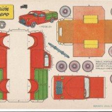 Coleccionismo Recortables: CAMIÓN LECHERO - RECORTABLES BRUGUERA - 1959. Lote 75782551