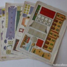 Coleccionismo Recortables: CUATRO RECORTABLES TRENES - EDITORIAL ROMA. Lote 79270745
