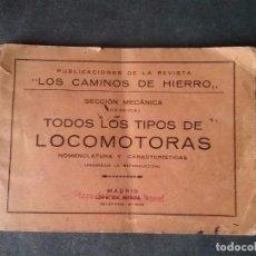 Coleccionismo Recortables: LOS CAMINOS DE HIERRO , TODOS LOS TIPOS DE LOCOMOTORAS.. Lote 86238184