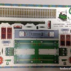 Collectionnisme Images à Découper: RECORTABLE LOCOMOTORA ELECTRICA TIPO BB. Lote 122891908