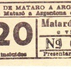 Coleccionismo Recortables: TRANVIA MATARÓ CERDANYOLA. Lote 88910176