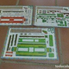 Coleccionismo Recortables: LOTE 3 RECORTABLES DE TREN ANTIGUO. RECORTABLE MATARO A BARCELONA, ALSTHOM, DIESEL ALCO.. Lote 92283350
