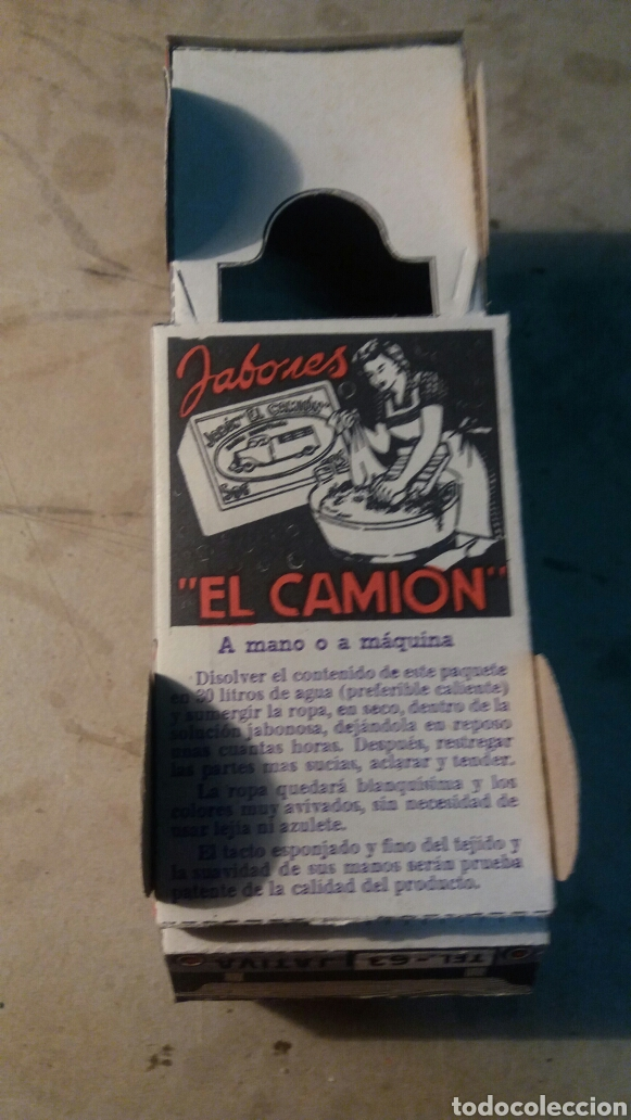 Coleccionismo Recortables: Jativa, jabones El Camión. Recortable - Foto 4 - 96177650