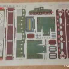 Coleccionismo Recortables: 1 RECORTABLE ** LOCOMOTORA ELECTRICA 5-B . Nº 3 - GRAFICAS REUNIDAS, SA ** 40 X 29 CMS.. Lote 97739723