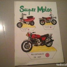 Coleccionismo Recortables: SUPER MOTOS. DIBUJOS:FRANCISCO LOSADA. EDICIONES BAUSÁN. BENELLI. DUCATI. SUZUKI... RECORTABLE.. Lote 97996891