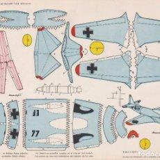 Coleccionismo Recortables: AVIÓN JET TRAINER T-334 (ALEMANIA) RECORTABLES TORAY Nº 33. Lote 132324470
