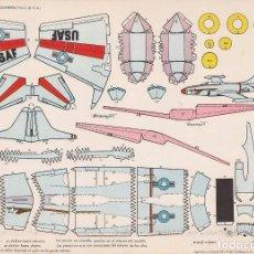 Coleccionismo Recortables: AVIÓN LOCKHEED F-94 (ESTADOS UNIDOS) RECORTABLES TORAY Nº 34. Lote 132324601