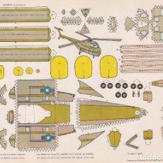 Coleccionismo Recortables: HELICOPTERO SIKORSKY S-55 (ESTADOS UNIDOS) RECORTABLES TORAY Nº 36. Lote 132324910