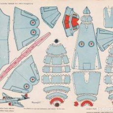 Coleccionismo Recortables: AVION GLOSTER METEOR N.F. MK II-14 (INGLATERRA) RECORTABLES TORAY Nº 37. Lote 132325023