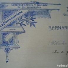 Coleccionismo Recortables: LA FERRO CARRILANA 1910 RIBADEO RARA CARTA CON MEMBRETE. Lote 100999559