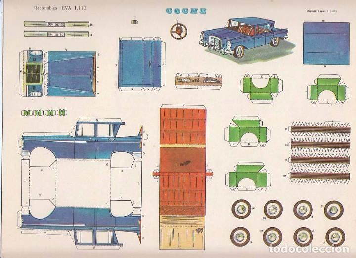 RECORTABLE: COCHE EVA Nº 1110. MEDIDAS 22,5 X 30 CMS. AÑO 1965. CARTULINA (Coleccionismo - Recortables - Transportes)