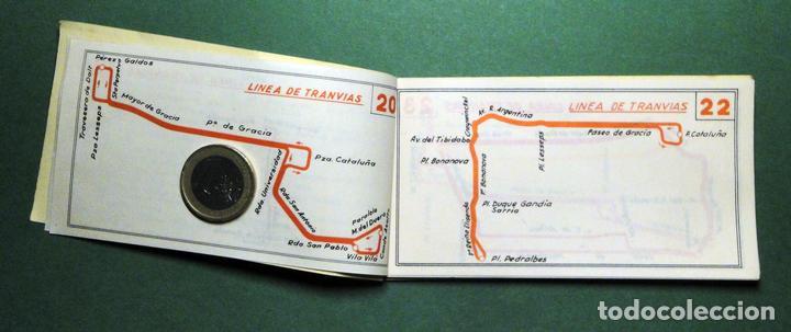 Coleccionismo Recortables: Itinerarios de las líneas de tranvías, trolebuses, autobuses y ferrocarriles metropolitanos de Barce - Foto 3 - 101655975