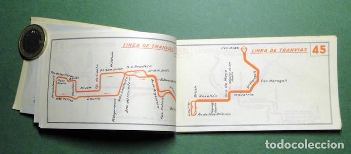 Coleccionismo Recortables: Itinerarios de las líneas de tranvías, trolebuses, autobuses y ferrocarriles metropolitanos de Barce - Foto 4 - 101655975