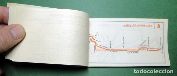 Coleccionismo Recortables: Itinerarios de las líneas de tranvías, trolebuses, autobuses y ferrocarriles metropolitanos de Barce - Foto 5 - 101655975