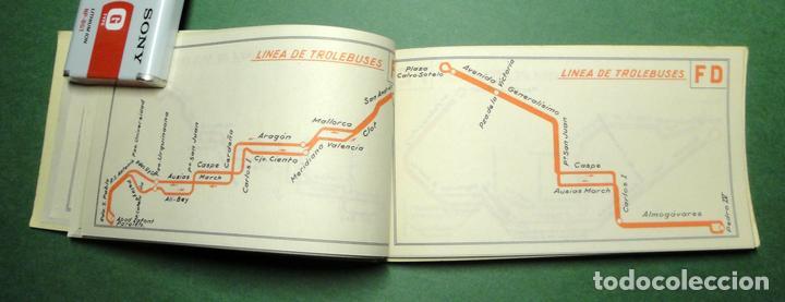 Coleccionismo Recortables: Itinerarios de las líneas de tranvías, trolebuses, autobuses y ferrocarriles metropolitanos de Barce - Foto 6 - 101655975