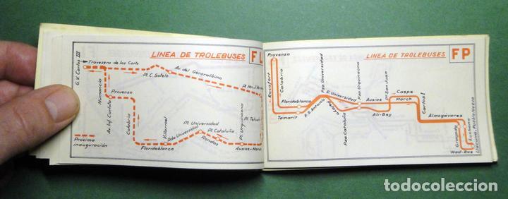 Coleccionismo Recortables: Itinerarios de las líneas de tranvías, trolebuses, autobuses y ferrocarriles metropolitanos de Barce - Foto 7 - 101655975