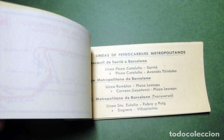 Coleccionismo Recortables: Itinerarios de las líneas de tranvías, trolebuses, autobuses y ferrocarriles metropolitanos de Barce - Foto 8 - 101655975