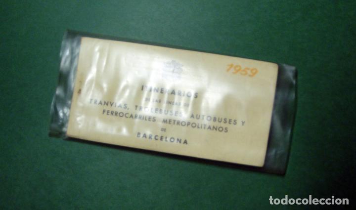 Coleccionismo Recortables: Itinerarios de las líneas de tranvías, trolebuses, autobuses y ferrocarriles metropolitanos de Barce - Foto 10 - 101655975