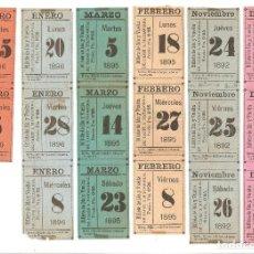 Coleccionismo Recortables: SIGLO XIX. CADIZ. BILLETES DEL VAPOR.. Lote 103443495